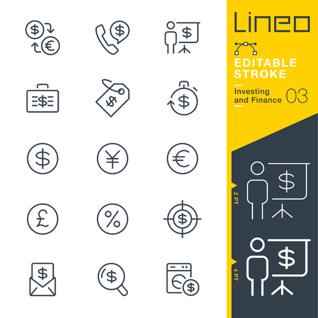 icon: Lineo Editable Stroke - Investing and Finance line icon Vector Icons - Adjust stroke weight - Change to any color