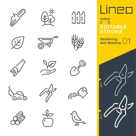 Lineo 編集可能なストローク - ガーデニングと行ベクトルをシードの線幅の調整 - アイコンを任意の色に変更
