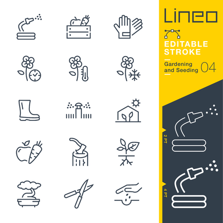 Lineo Editable Stroke - Gardening and Seeding line Vector icons - Adjust stroke weight - Change to any color 版權商用圖片 - 79734021