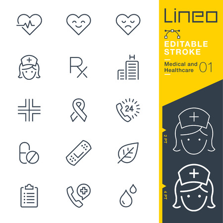 Lineo Editable Stroke - Medical and Healthcare line icon Vector Icons - Adjust stroke weight - Change to any color Çizim
