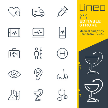 Lineo Editable Stroke - Medical and Healthcare line icon Vector Icons - Adjust stroke weight - Change to any color Ilustração