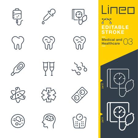Lineo Editable Stroke - Medical and Healthcare line icon Icônes vectorielles - Ajuster le poids de la course - Changer à n'importe quelle couleur Vecteurs