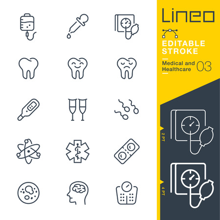 Lineo Editable Stroke - Medical and Healthcare line icon Vector Icons - Adjust stroke weight - Change to any color Vettoriali