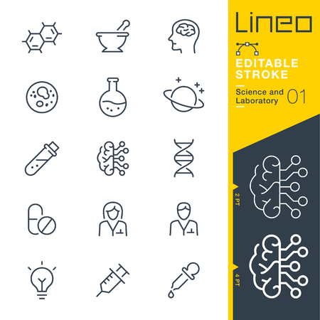 drug discovery: Lineo Editable Stroke - Science and Laboratory icons Vector Icons - Adjust stroke weight - Change to any color