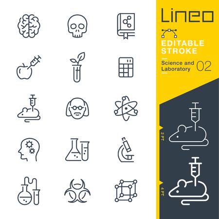 Lineo Editierbare Stroke - Wissenschaft und Labor icons Vector Icons - Passen Sie Strichstärke - Ändern Sie zu jeder Farbe