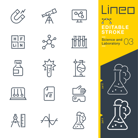 mathematics: Lineo Editable Stroke - Science and Laboratory icons Vector Icons - Adjust stroke weight - Change to any color