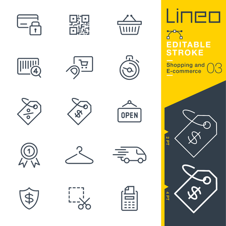 Lineo Editable Stroke - Shopping and E-commerce line icon Vector Icons - Adjust stroke weight - Change to any color