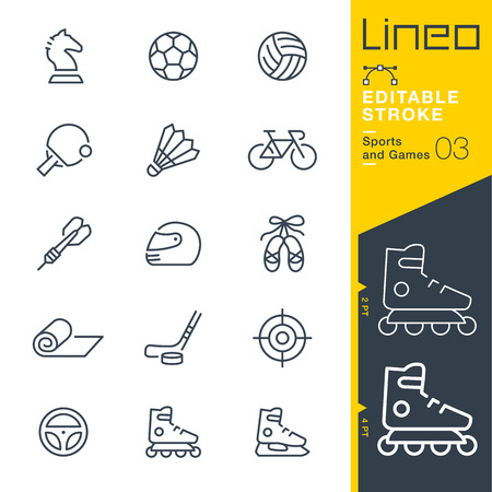 rollerblade: Lineo Editable Stroke - Sports and Games line icons Vector Icons - Adjust stroke weight - Change to any color