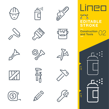 people: Lineo Editable Stroke - Construction and Tools line icon Vector Icons - Adjust stroke weight - Change to any color