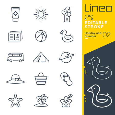 Lineo Editable Stroke - Holiday and Summer line icon Vector Icons - Adjust stroke weight - Change to any color