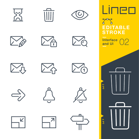 Lineo Editable Stroke - Interface and UI line icon Vector Icons - Adjust stroke weight - Change to any color 版權商用圖片 - 86959602