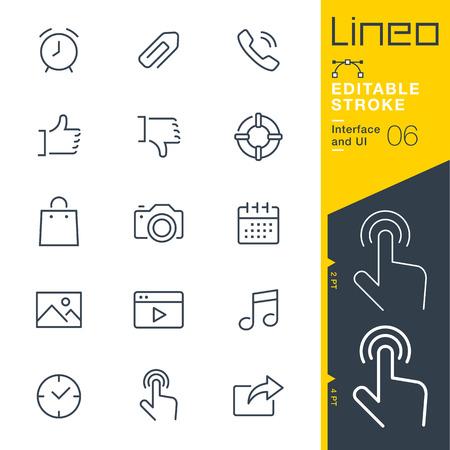 Lineo Editable Stroke - Interface et UI icône de ligne Icônes vectorielles - Ajuster le poids de la course - Changer à n'importe quelle couleur