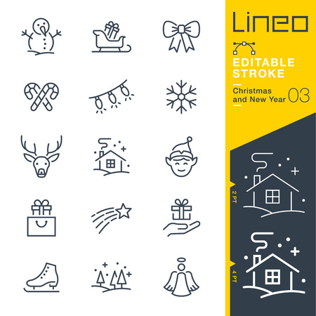 sir: Lineo Editable Stroke - Christmas and New Year line icon Vector Icons - Adjust stroke weight - Change to any color