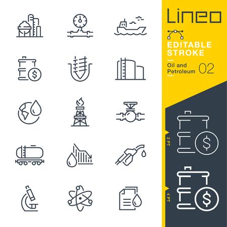 Lineo Editable Stroke - Ikony linii ropy i ropy naftowej