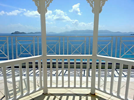 fence: The beautiful Caribbean sea