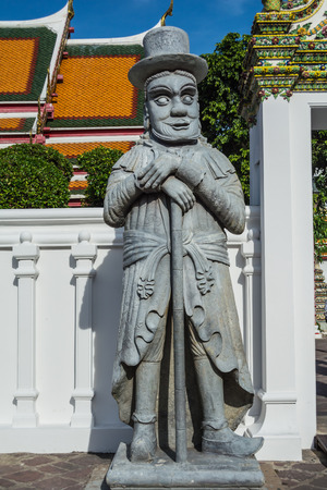 wat pho: The guardian is protecting Wat Pho temple, Bangkok, Thailand.