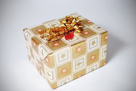 wrapped present: An image of a nicely wrapped gift Stock Photo