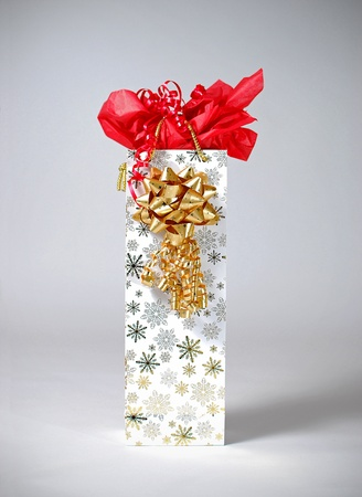 An image of a nicely presented gift bag Stock Photo