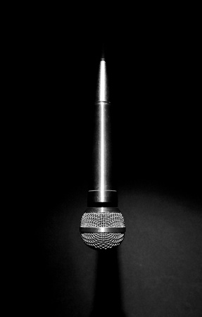 Image of hanging microphone in light Stock Photo - 11883194