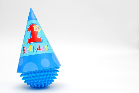First Birthday Hat on a toy
