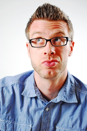 Image of a man making a facial expression