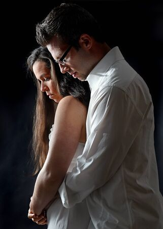 Portrait of a young couple embracing Stock Photo - 14120567