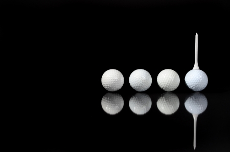 Four balls reflected photo