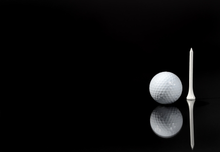 a ball and a tee photo