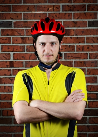 A cyclist Standard-Bild