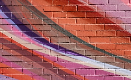 paint can: Abstract Colorful Brick Wall