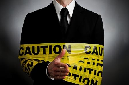 Caution Hand Shake