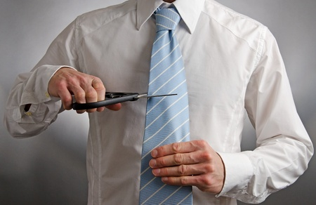 Cutting Ties Standard-Bild - 16320545