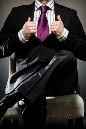 corporal language: Man Wearing Suit