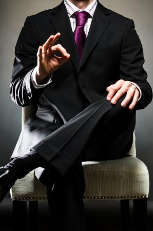 Man Wearing Suit O K