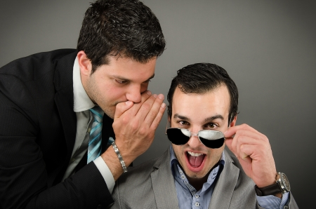 Whispering words Stock Photo - 20760372