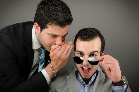 Whispering words Stock Photo - 20760372