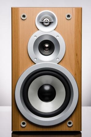 Speaker on White