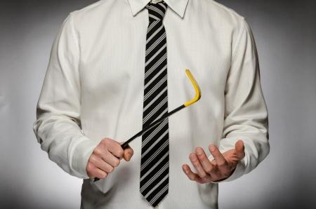 El hombre llevaba corbata celebración palanca