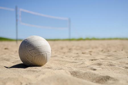 浜のバレーボール 写真素材