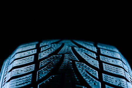 winter tires: Tire treads Stock Photo