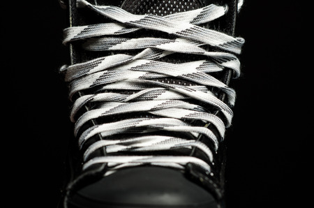 lace up: Skate laces Stock Photo