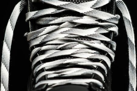 men s boot: Close up of a hockey skate