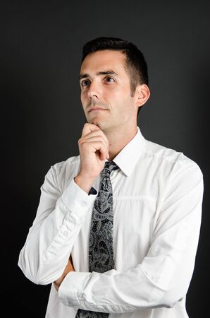 deep thought: Contemplation Stock Photo