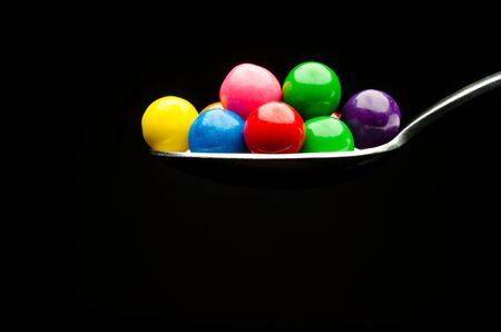 gumball: Gumball spoon Stock Photo