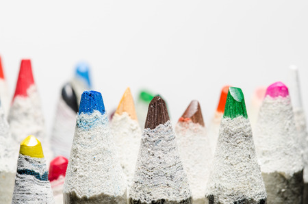 Coloring pencils on white