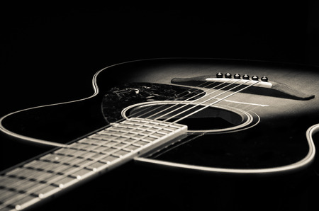 Guitar in black and white tones Stock Photo