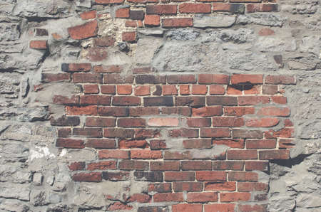 brick texture: Vintage brick wall Stock Photo