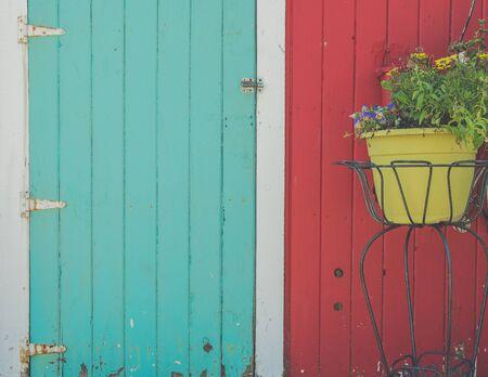 wood door: Country doors Stock Photo