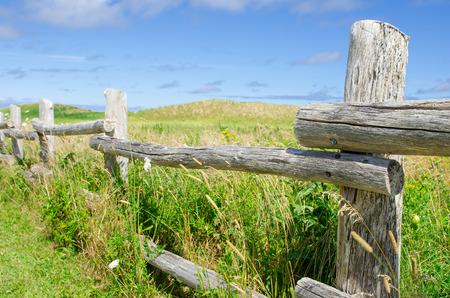 Prachtige oude houten hek