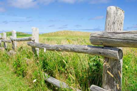 Beautiful old wooden fence